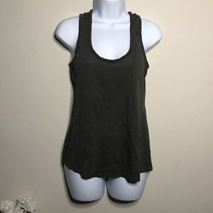 Anthropologie C Keer Green Braided Tank Size Small
